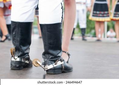 Man boot of Slovak folk dance in Folk Festival