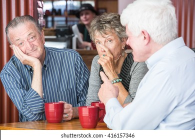 Man boring or annoying couple in coffee house
