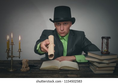 man bowler hat suit sitting by stock photo edit now 1154502580