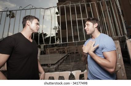 Man breaking up with his boyfriend