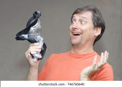 Man with breathing issues is overjoyed about CPAP equipment