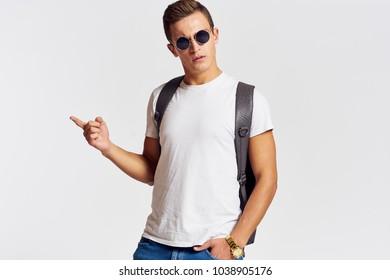 man, briefcase, student