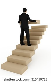 Man builds on career stairs