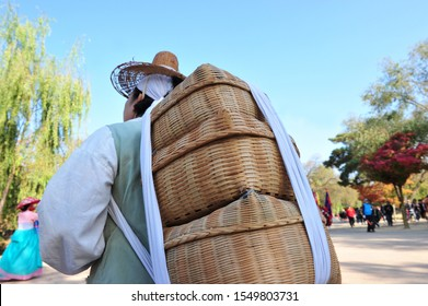 Man with a bundle on his back