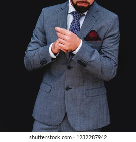 The man in a business suit