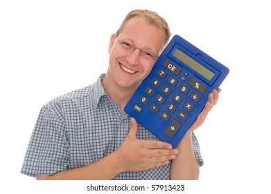 A man with calculator