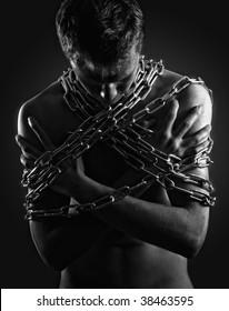 Man in captivity