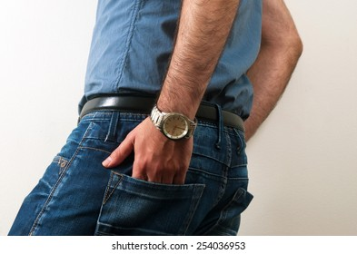 man with casual clothes closeup