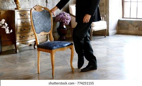 Man and chair, tango dance