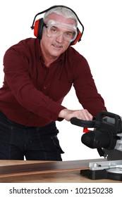 Man with a circular saw