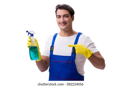 Similar Images Stock Photos Vectors Of Man With Cleaning