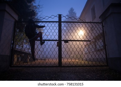 Climbing Over Fence Images Stock Photos Amp Vectors