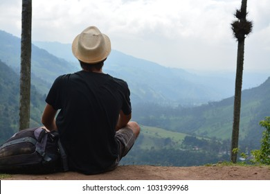 Man in Cocora Valley - Colombia