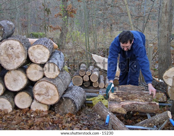 Man collecting firewood
