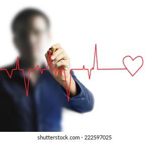 Man Concept hand drawn heart
