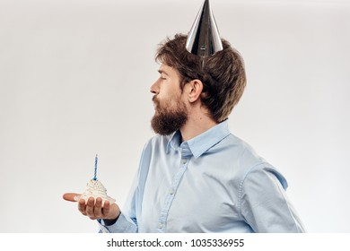 man, cone hat, holiday