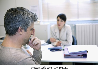 Man In Consultation, Dialogue
