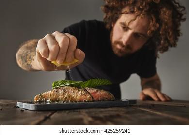 eating fish images stock photos vectors shutterstock. Black Bedroom Furniture Sets. Home Design Ideas