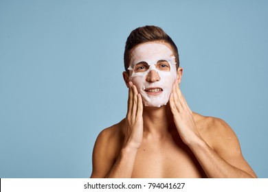man in a cosmetic mask, care