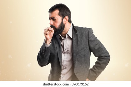 Man coughing a lot