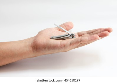 a man cutting his nails no.1