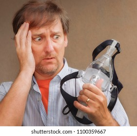 Man with cystic fibrosis is confused about using a CPAP mask to help with his chronic breathing issues