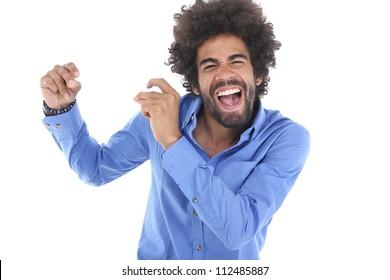 Man is dancing