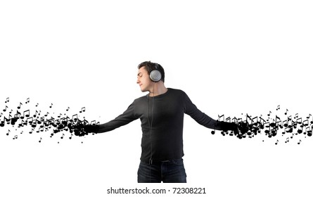 Man dancing to the music