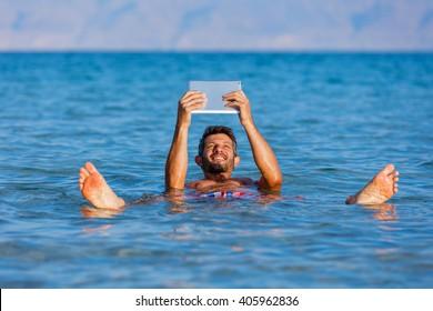 Man At The Dead Sea, Israel.