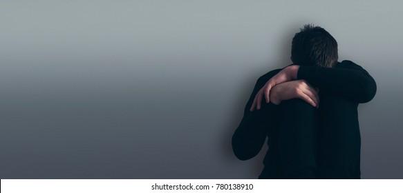 The man is depressed