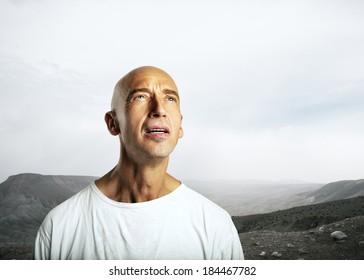 Man in a desert