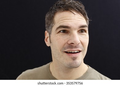 man with different faces, portrait of a man