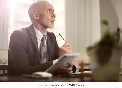 Man discussing ideas at work