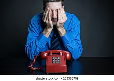Man in distress about phone call