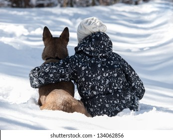 Man and dog friendship forever