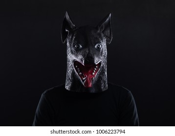 A man in a dog mask year of the dog.