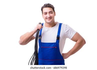 Man doing electrical repairs