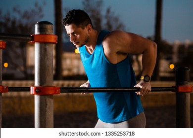man doing sport on the street