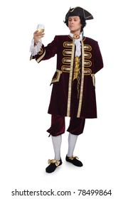 A man dressed as a courtier
