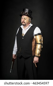 A man dressed in the style of steampunk