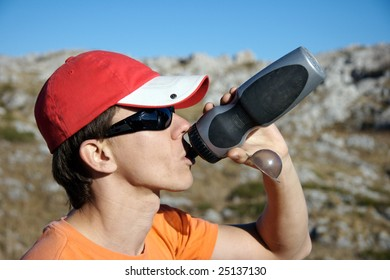 Man drink water