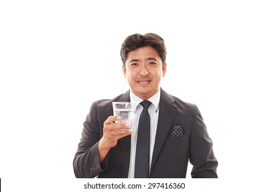 Man drinking water