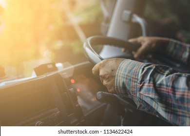 Man driver Truck. / Transportation Industry