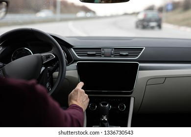 Man driving the car drivers view