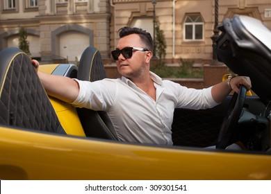 Man driving rear