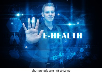 man with ehealth medical technology