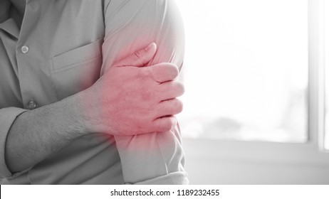 Man with Elbow pain.