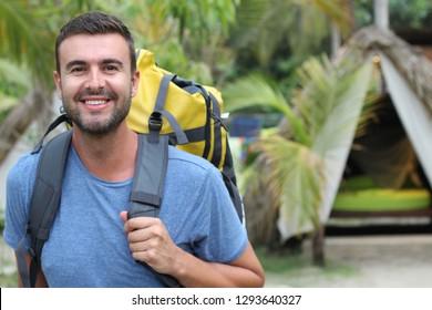 Man enjoying ecotourism in South America