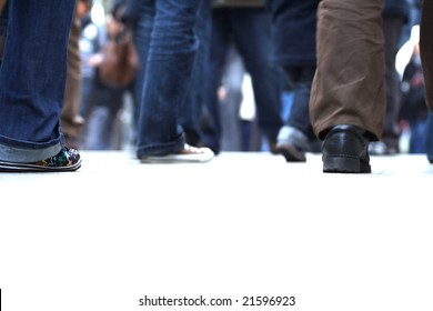 man equipped as a Jean walks on the street -2