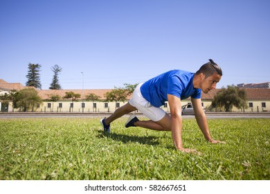 Man exercising with situps